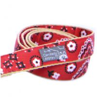 DOG LEAD - COOL BIKER DOG CLASSIC BANDANA RED
